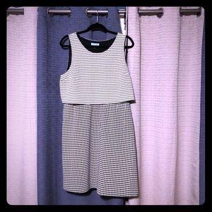 Black/white dot dress from Cynthia Rowley in a 14